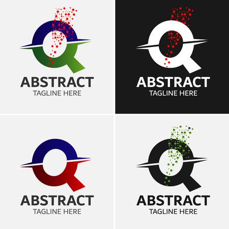 Abstracte Letter Q Logo Sjabloon