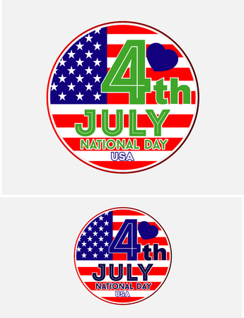 USA National Day 4 juli Stock Illustratie