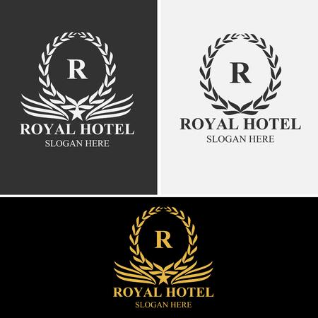 Royal Laurel Logo Template Stock Illustratie