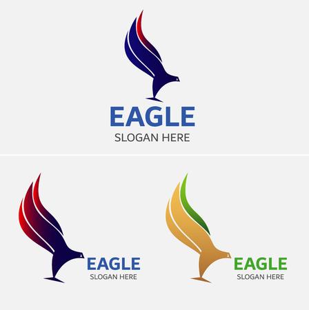 Eagle Flying Logo Template