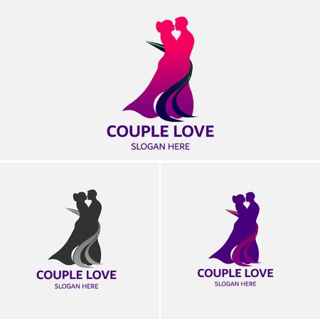 Paar Liefde Dansende Logo Sjabloon