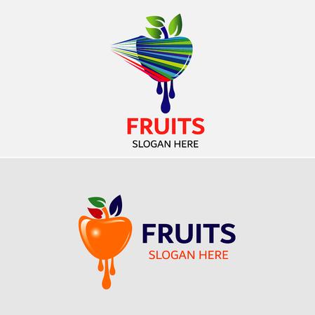 Vruchten Logo sjabloon Vector iconen Elementen Design