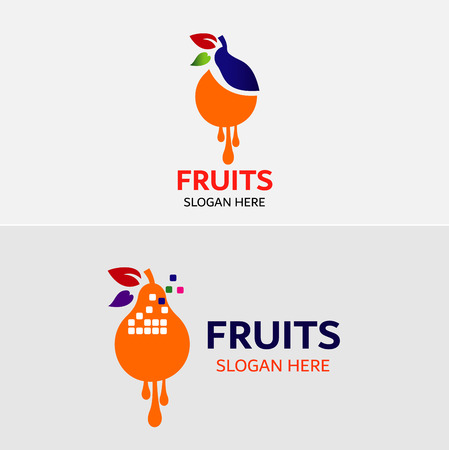 Fruits Logo template Vector icons Elements Design