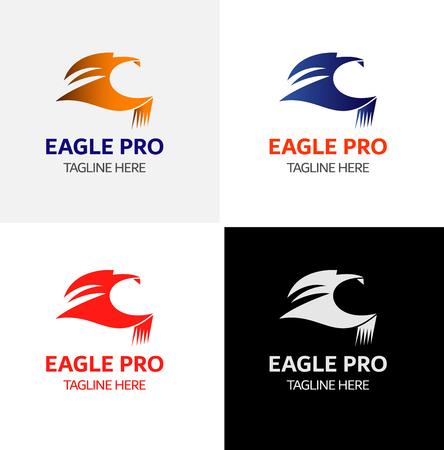 Eagle Logo sjabloon Vector iconen Elements Design Stock Illustratie