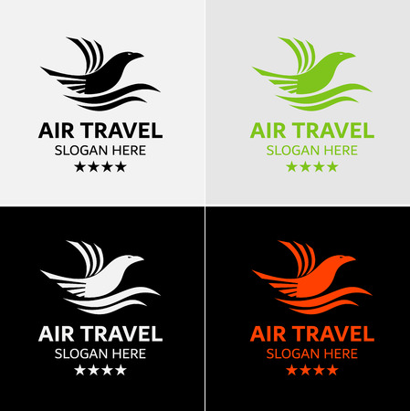 Flying Eagle Logo Template Stock Illustratie