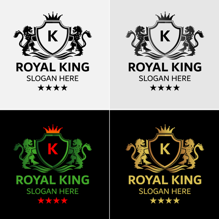 Königliches Löwenkamm-Logo Standard-Bild - 84202943