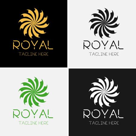 Royal Luxurious Flower Logos Stock Illustratie