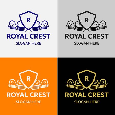 Königliche luxuriöse Wappen Logos Standard-Bild - 84220550