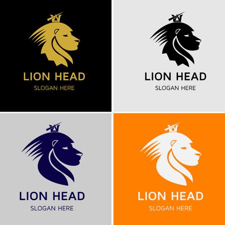 Lion Head Vector Logo Stock Illustratie