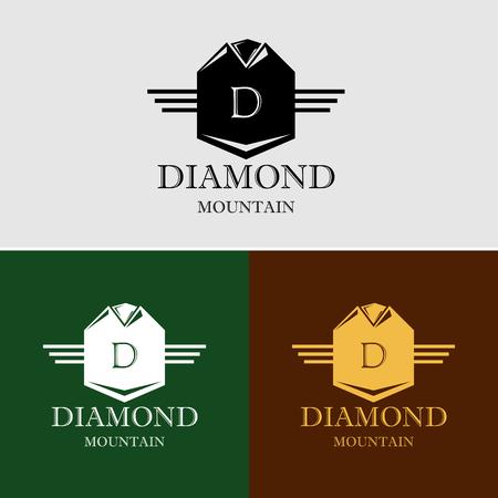 Royal Luxury Heraldic Crest Mountain Logo Stock Illustratie