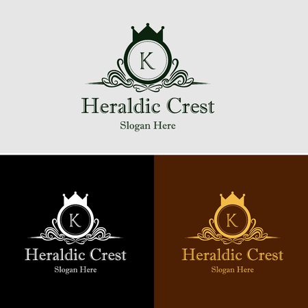 Royal Luxury Heraldic Crest Logo Stock Illustratie