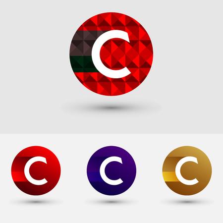 C Letter Vector Logo Icon Design Symbol Ilustração