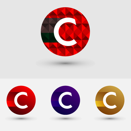 C Letter Vector Logo Icon Design Symbol Illustration