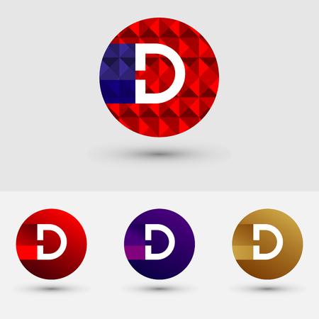 D Letter Vector Logo Icon Design Symbol  イラスト・ベクター素材