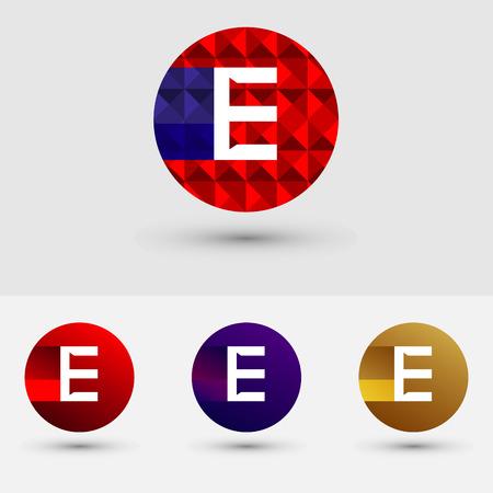 E-letter Vector Logo Icon Ontwerp Symbool