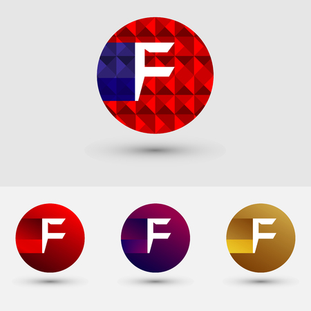 F Letter Vector Logo Icon Ontwerp Symbool