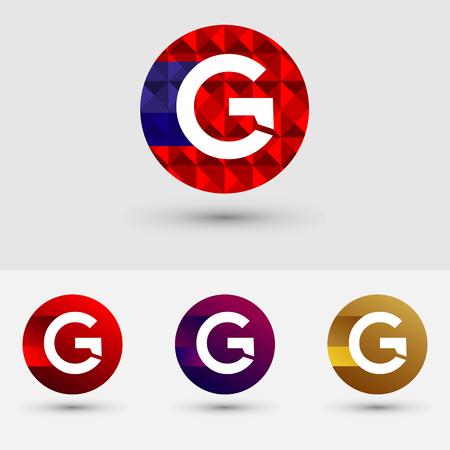 G Brief Vector Logo Icon Ontwerp Symbool Stock Illustratie