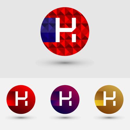 H Brief Vector Logo Icon Ontwerp Symbool
