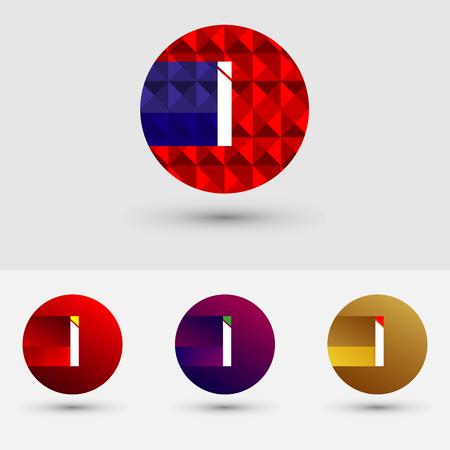 I Letter Vector Logo Icon Design Symbol