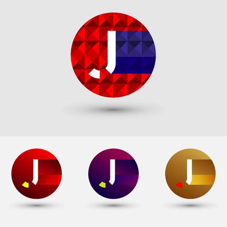 J Brief Vector Logo Icon Ontwerp Symbool