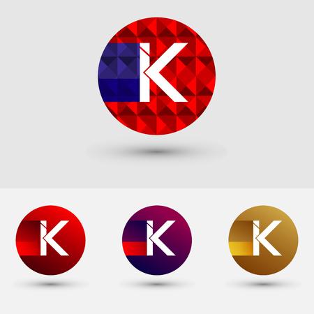 K Letter Vector Logo Icon Design Symbol Ilustração