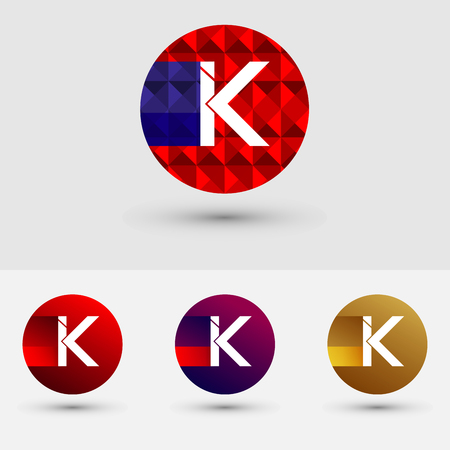 K Letter Vector Logo Icon Design Symbol Illustration