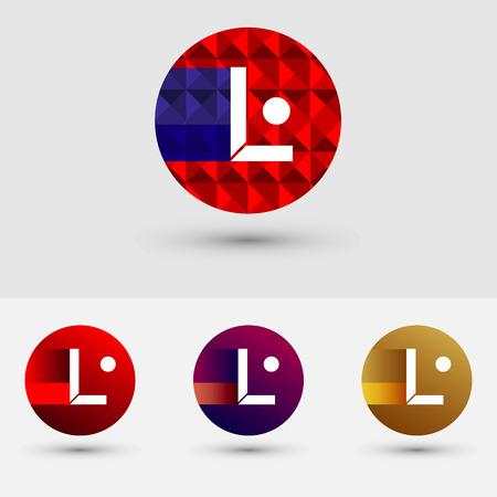 L Letter Vector Logo Icon Ontwerp Symbool Stock Illustratie