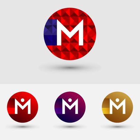 M Letter Vector Logo Icon Ontwerp Symbool Stock Illustratie