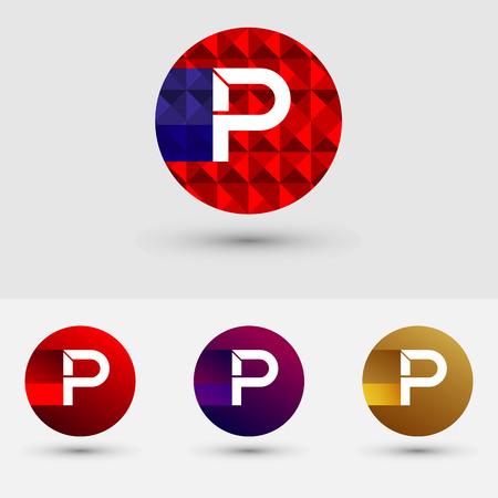 P Letter Vector Logo Icon Design Symbol Ilustração