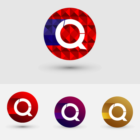 Q Letter Vector Logo Icon Ontwerp Symbool Stock Illustratie