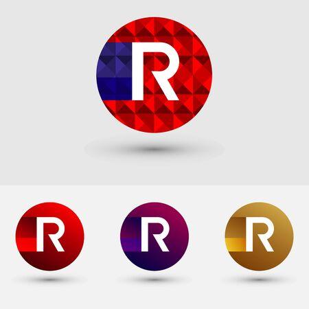R Letter Vector Logo Icon Ontwerp Symbool Stock Illustratie