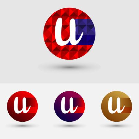 U Letter Vector Logo Icon Ontwerp Symbool