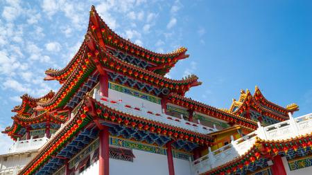 KUALA LUMPUR, MALAYSIA - 18TH FEBRUARY 2015: The ornate architecture at Thean Hou Temple during Chinese New Year festive season in Kuala Lumpur, Malaysia.