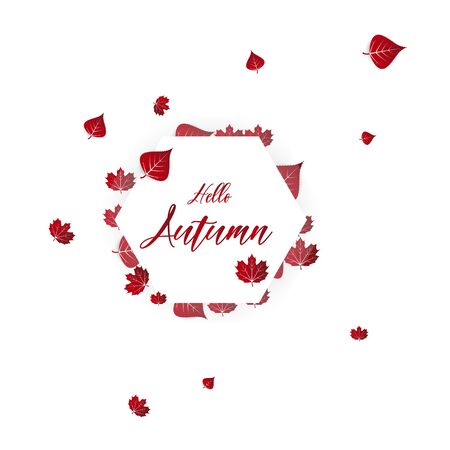 Autumn typographic. Fall leaf. Vector illustration EPS 10 Ilustrace