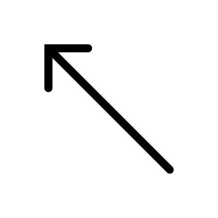 Arrow pointer top left icon vector flat trendy