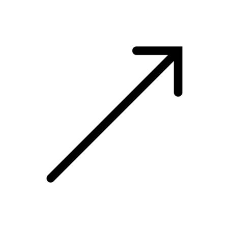 Arrow pointer top right icon vector flat trendy