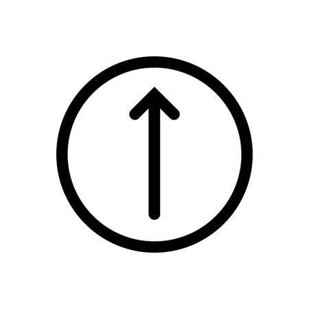 Arrow pointer up icon vector flat trendy