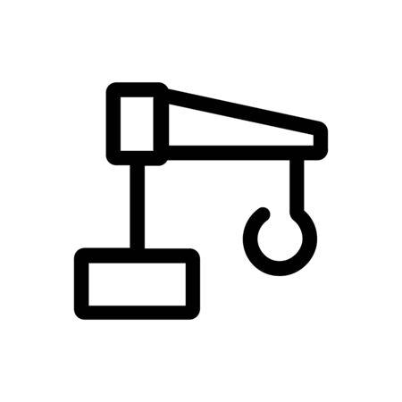 construction crane icon illustration isolated vector sign symbol