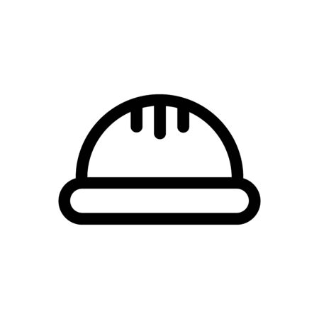 construction helmet outline icon. Element of construction icon for mobile concept and web apps. Thin line construction helmet and glasses outline icon can used for web on white background