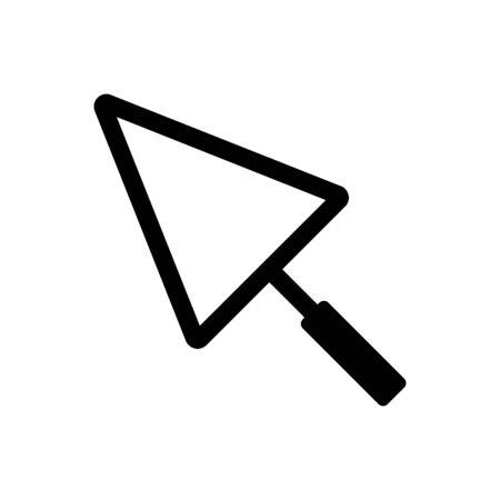 Trowel icon. Vector concept illustration for design.