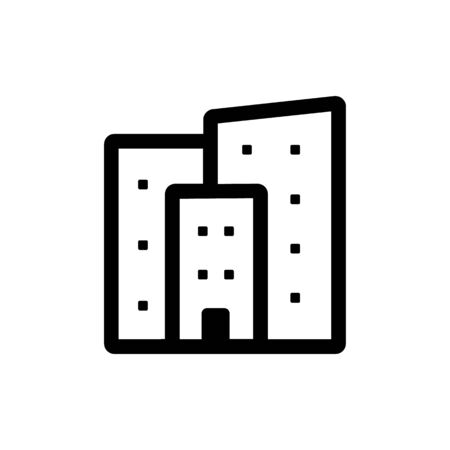 Apartment icon. Flat vector illustration in black on white background.