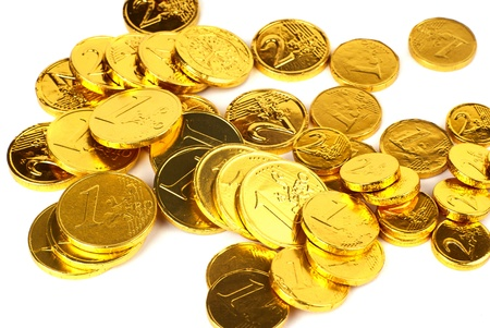 Sweets in form of EURO coins.