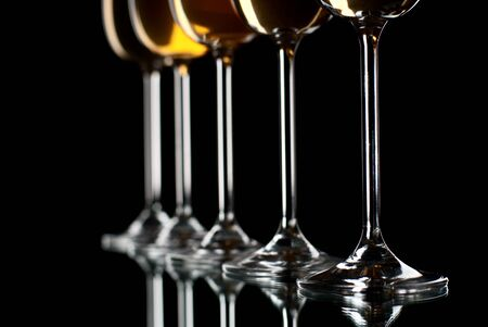 Set of wine glasses filled with wine. Stock Photo - 8803431