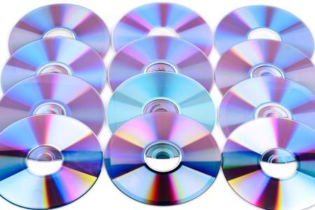 Set of compact disks. photo