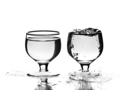 Wine glasses with liquid. White background. Studio shot. Stock Photo - 9126669