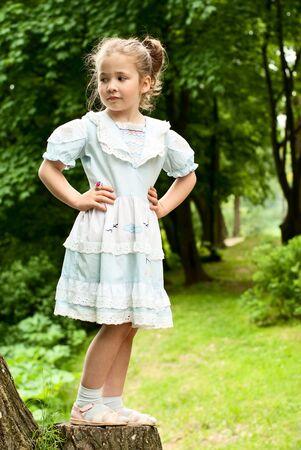 Little girl in summer park. Stock Photo - 18708797