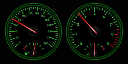 dashboard: picture of auto dashboard, vectot eps8 illustration
