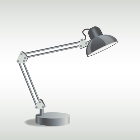 foto van tafellamp, vector eps10