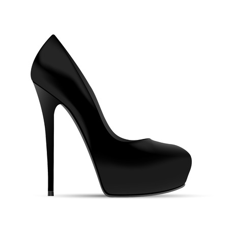 picture of women shoe on white background, vector eps10 illustration Vector
