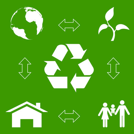 ecological concept, waste recycling  Vector